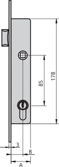 Cvl 1990//20//6 Cerradura Embutir 1990-20//6 Ai