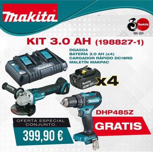 precio loco mejor sitio online aquí MAKITA Amoladora DGA504Z + 4 Baterías + Cargador Doble + Maletín MAKPAC +  REGALO